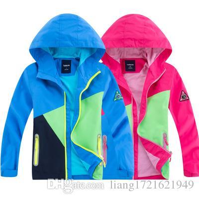 Frühling Jungen und Mädchen Regenmantel Outdoorjacke wasserdicht atmungsaktiv Reißverschluss Mantel