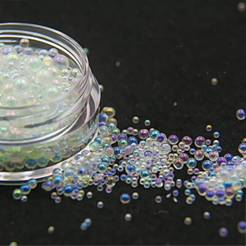 una scatola Mini Bubble perline perle 1-3mm misti piccole perle per vetro globo Resina stampo in silicone stampo in silicone di riempimento fascino