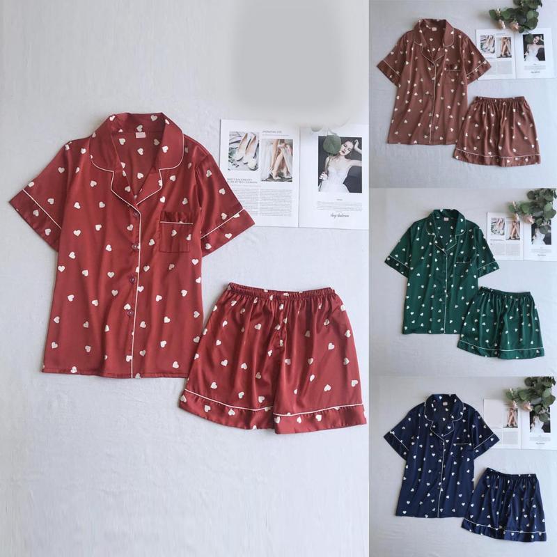 Estate Nuovo Quotidiano di Alta Qualità Delle Donne Sexy Shorts Sleeve Sleepwear breve Pigiameria Pant Set A2