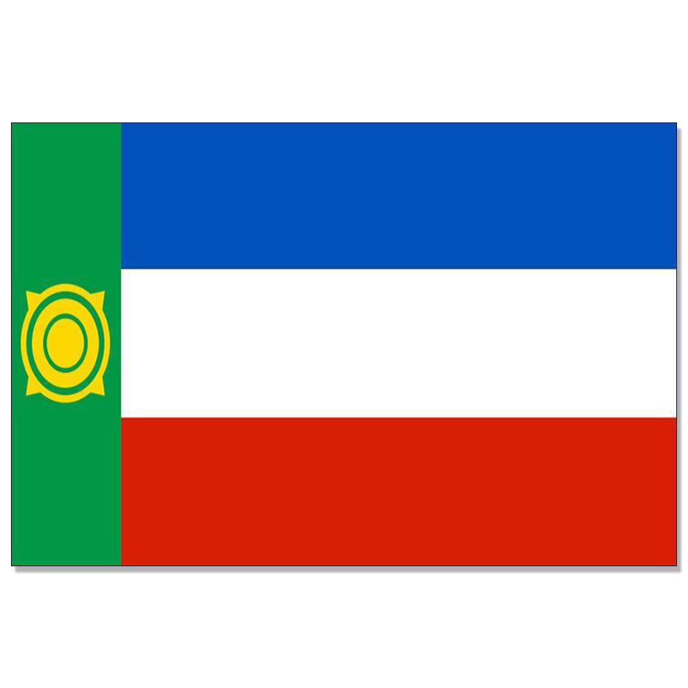 République de Khakassie drapeau Russie État du pavillon 150x90cm 100D canons isolants en laiton polyester 3x5FT drapeau personnalisé, Livraison gratuite