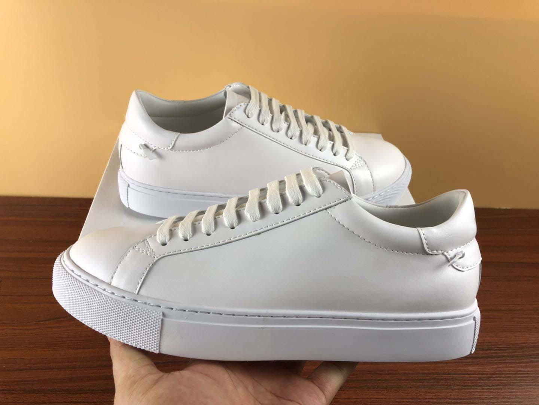 Di Alta Qualità Del Progettista sneakers tessitura classica del Cuoio Genuino Degli Uomini Scarpe Da Donna Scarpe poco bianco Lace-Up Confortevole Casual Formato 36-46