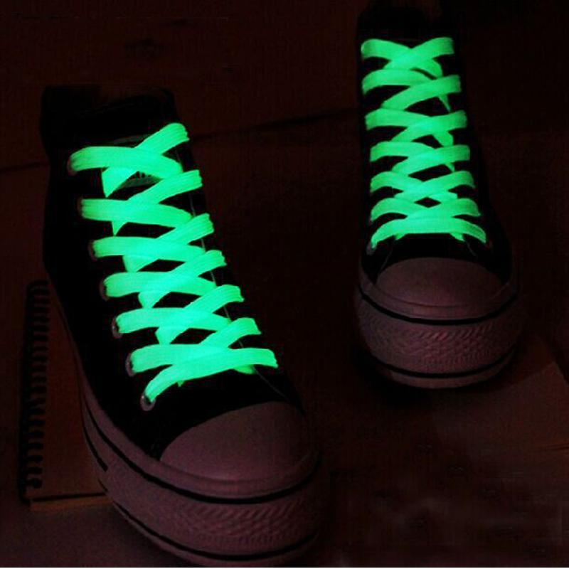 Luminous 1pair 120cm Fashion Sport Spielzeug Zubehör Schnürsenkel Glow In The Dark verbessern manipulative Fähigkeit Geschenk für Kinder