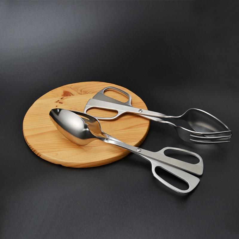 Acciaio inossidabile Insalata clip addensare Specchio alimentari clip del pane della clip d'argento della cucina Insalata Strumento