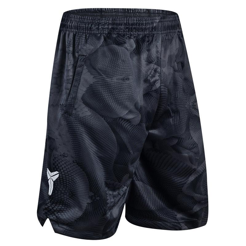 Moda-Şort Basketbol Pantolon Spor Şort Siyah Mamba Kamuflaj KD Polyester Diz Boyu Çabuk kuruyan Eğitim Aktif M-3XL