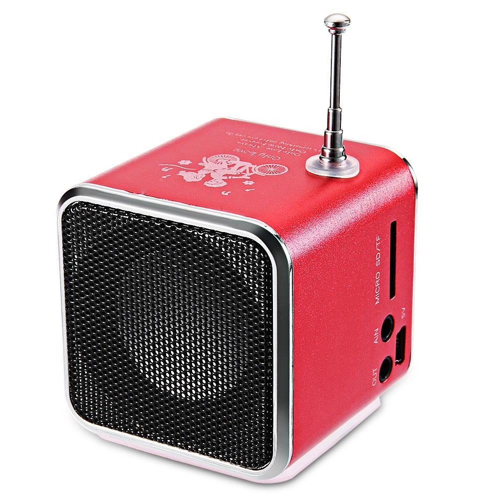 10-40pcs TDV26 مصغرة معدن الفولاذ مضخم صوت نشط سيارة سبيكة الألومنيوم المتكلم TF راديو FM USB BOOMBOX كايكسا دي سوم مكبر الصوت جودة عالية