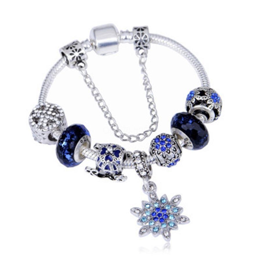 Memnon Jewery Original 925 Sterling Alloy Beads Pave Blue Cz Slipper Charms High Heel Shoe Charm Pendants For Women Bracelets Diy Dsn014#300