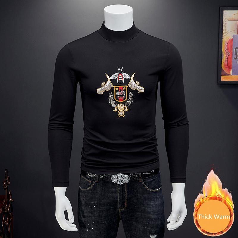 Royal T Shirt Men Tishert Homem Luxury Embroidery Long Sleeve T Shirt Thick Warm Stranger Things Club Outfits Puls Size 7xl T200528