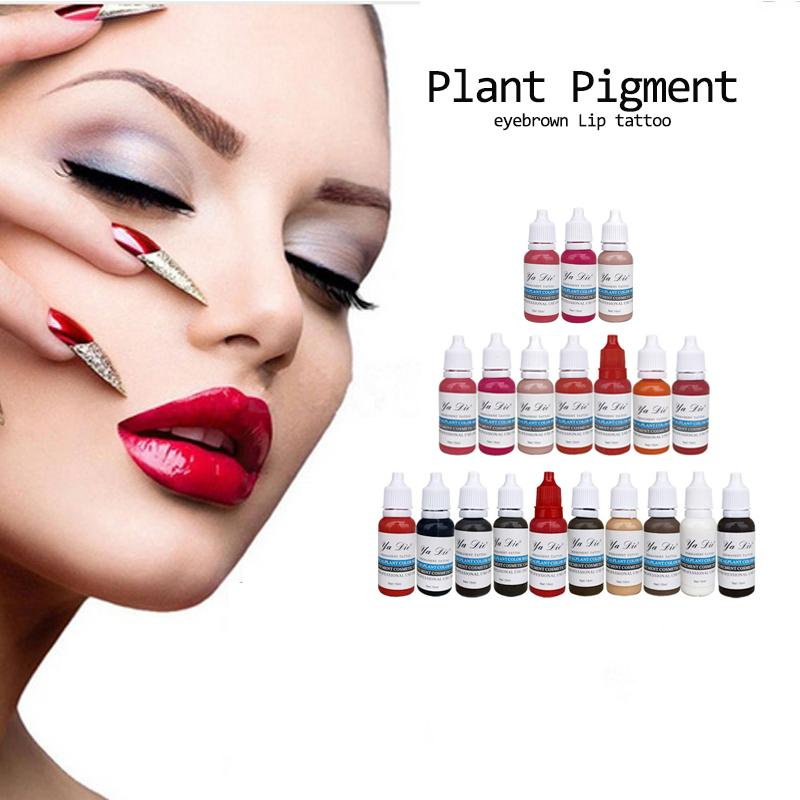 22 Bouteille 1/2 oz Tattoo encre pigmentée pour le maquillage permanent facile à porter Sourcils Eyeliner Lip Arts de corps Peintures Tattoo Art Beauté Trop