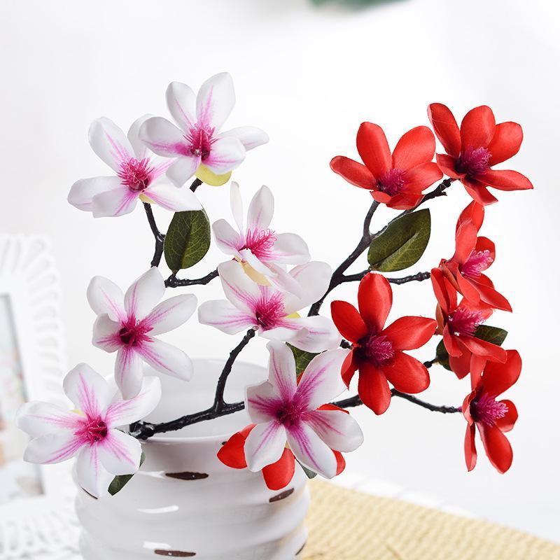 7 Kopf Single-Zweig hochwertiger Blume Multi-Hand-Gefühl Simulation Haus Hochzeit Urlaub Blume Simulation