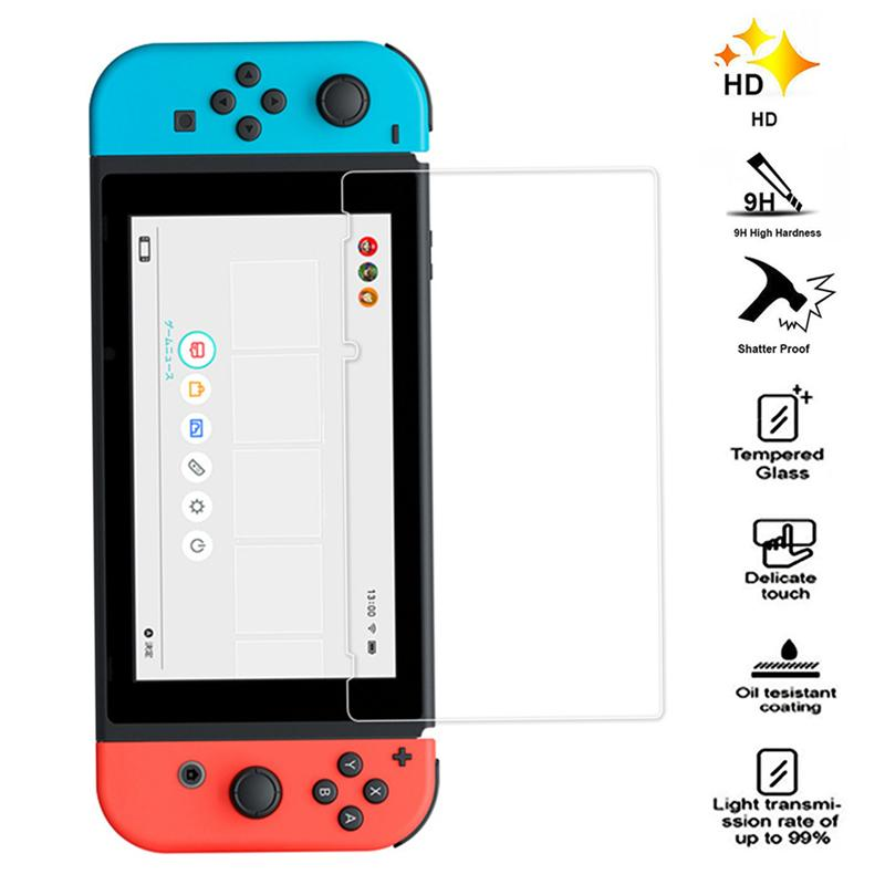 Premium Tempered Glass Screen Protector Case for Nintend Nintendo Switch NS NX Controller Protect Shell Cover Games Accessories