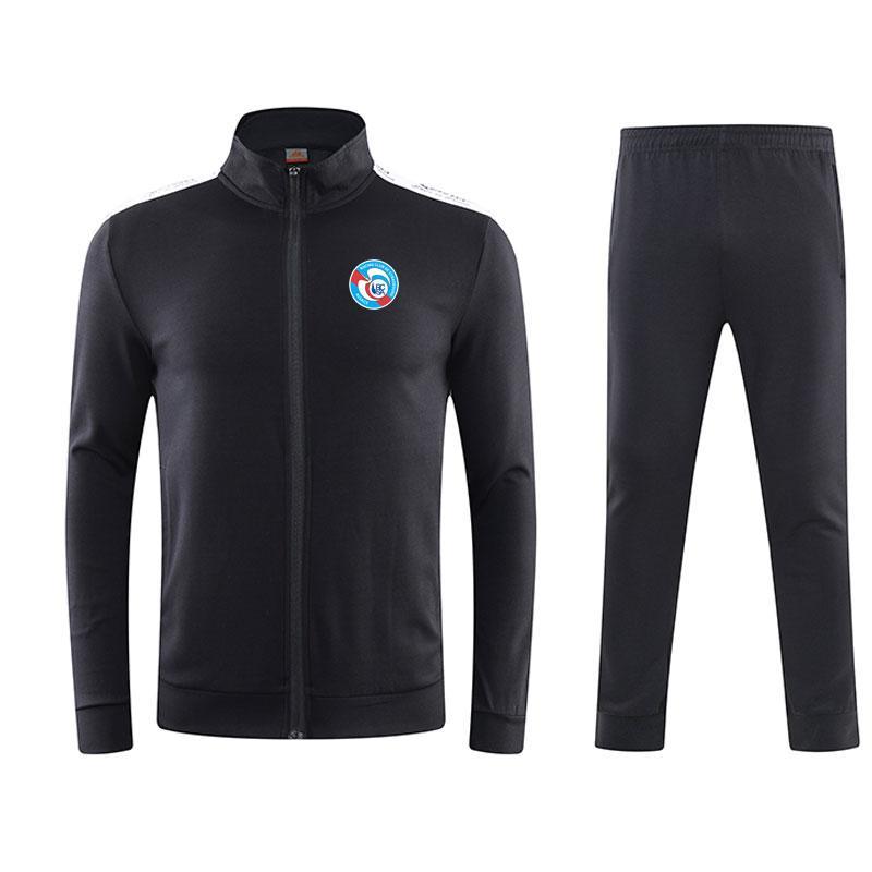 RC Strasbourg 2020 весной и осенью зима новый пиджак футбол тренировка костюм долго спортивная одежда спортивная тренировка костюм хлопок работает одежду