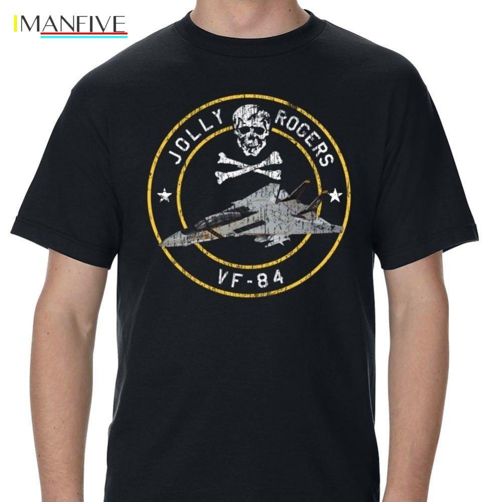 Jolly Rogers VF-84 T-shirt F-14 2019 Hot vendas de verão cobre T Camiseta