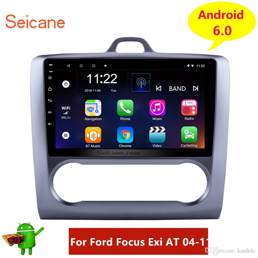 9 inch HD Touchscreen Android 8.1 GPS Navi Car Stereo for 2004-2011 Ford Focus Exi AT with WIFI Bluetooth USB Music support 1080P Video DVR