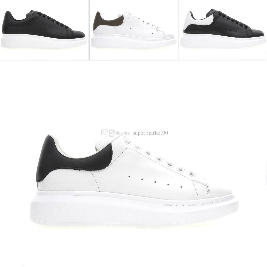Modelli alla moda scarpe da uomo casuali di moda scarpe bianche della piattaforma del cuoio pattini casuali piani di cuoio della scarpa da tennis Chaussures de sport