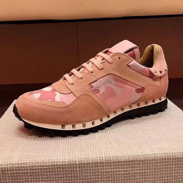 Designer sapatos masculinos de luxo camurça Lace Rockrunner Camouflage Sneakers apartamentos calçados casuais dos homens Mens Mulheres Flats trai Luxo