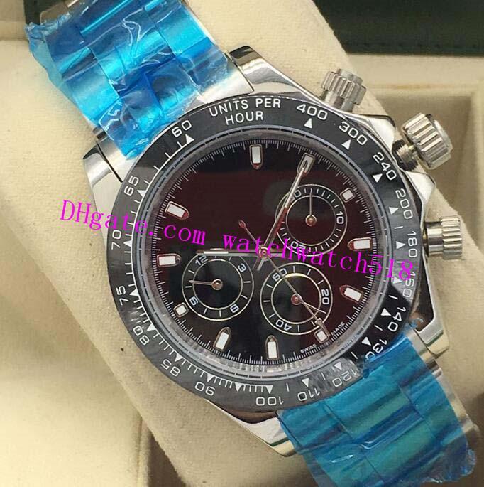Reloj de lujo del oro blanco 18K 6 Estilo 40mm 116519 Fábrica Dial reloj de los relojes del envío libre hombres de la moda automática