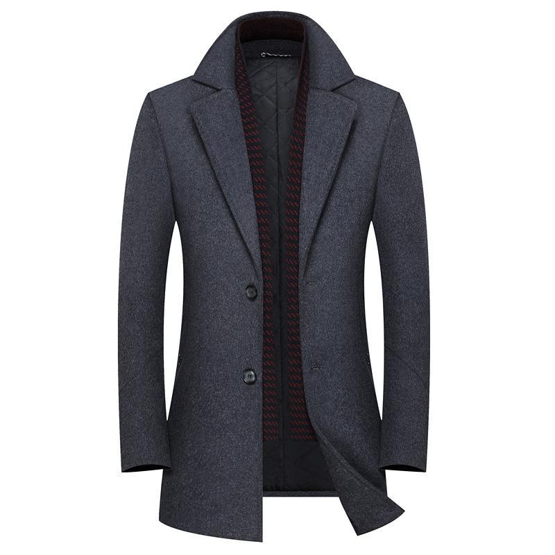 Мужская шерсть смешивает высококачественное пальто, кашемировая куртка для мужчин, зимние пальто мужчины