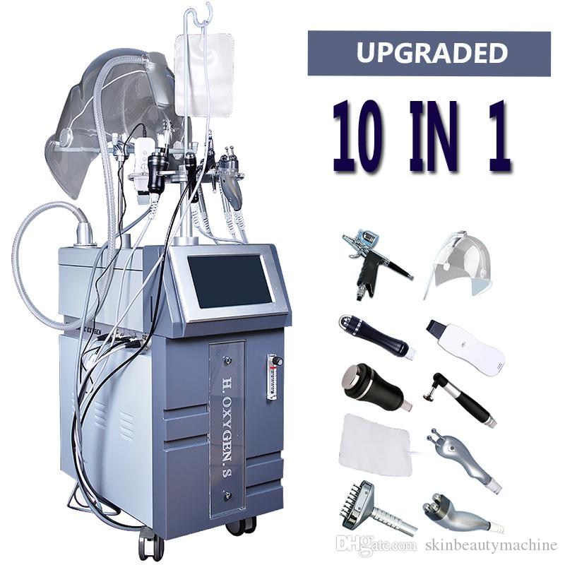 Yüksek Kaliteli Oksijen Infuse Makinesi Cilt Yüz Bakımı Bio foton RF Ultrasonik Bio Microcurrent Oksijen Yüz Güzellik Makineleri Sprey