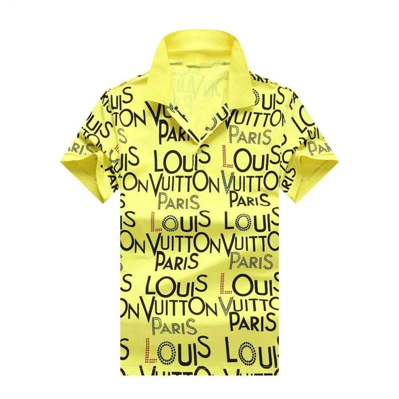 Mens camisas de polos de verano polo para los hombres suaves camisetas con cuello bordado de rayas sólido Ropa M-3XL4