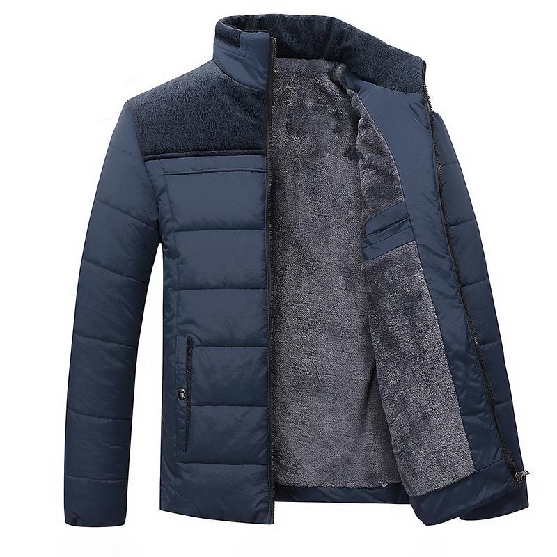 Brasão Hot Sale Inverno Marca Men Jacket Fur capa com Cashmere Plus Size Jacket 4XL Inverno Men Moda de alta qualidade de