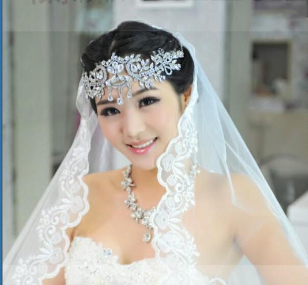 2017 heißen Verkauf Brauthaarbänder Kristallstirnband Frauen Haarschmuck Hochzeit Zubehör Kristall Diademe und Kronen-Kopf-Ketten