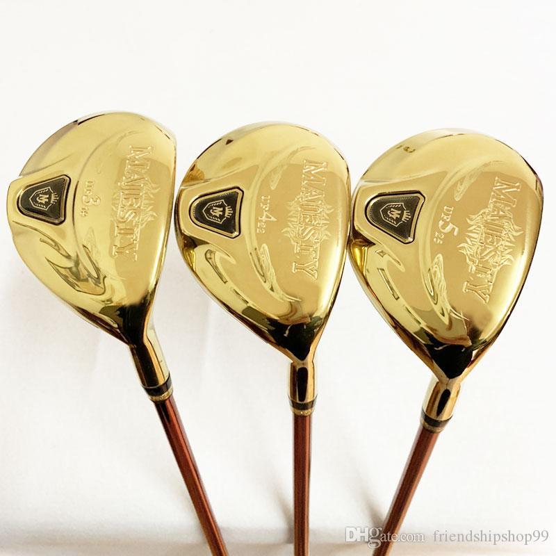 Herren Golf Hybrid Wood Maruman Majesty Golf Wood Clubs UF2 / 16 UF3 / 19 UF4 / 22 UF5 / 25 Graphit Golf Welle Kopfbedeckung L FLEX