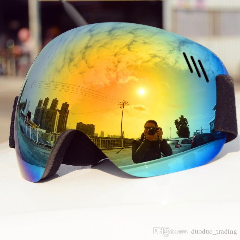Ski Goggles Skiing Anti-fog UV Protection Snowboard Goggles Men Women Snow Sports Ski Glasses Snowmobile Skating Mask Color lens UV400