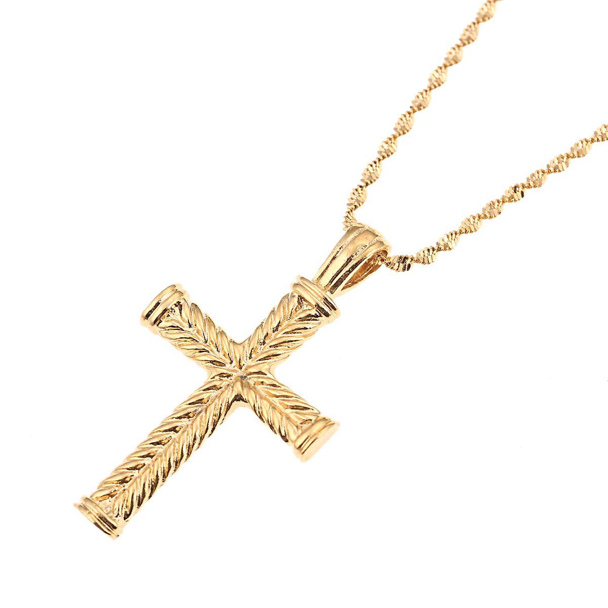 Kreuz Jesus Anhänger Christus Kreuz Anhänger Halskette Schmuck für Frauen