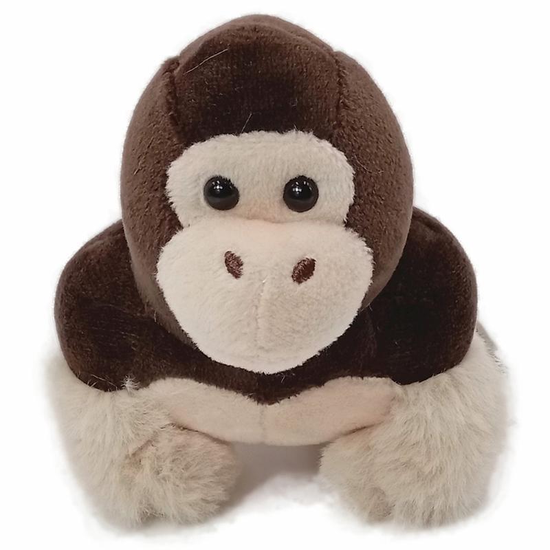 10 centímetros bicho de pelúcia Plush Toy pingente pequeno crianças brinquedos mini-Gorila dos desenhos animados bonecas chaveiros aniversário cor Presente de Natal