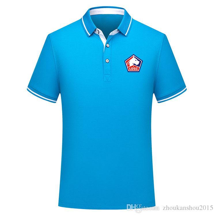 Тайская версия качество Новый 2019 2020 Лига Лилль футбол рубашка поло Мужчины футболка футбольные рубашки 2019/20 Лилль рубашки поло Джерси Пепе мужчины
