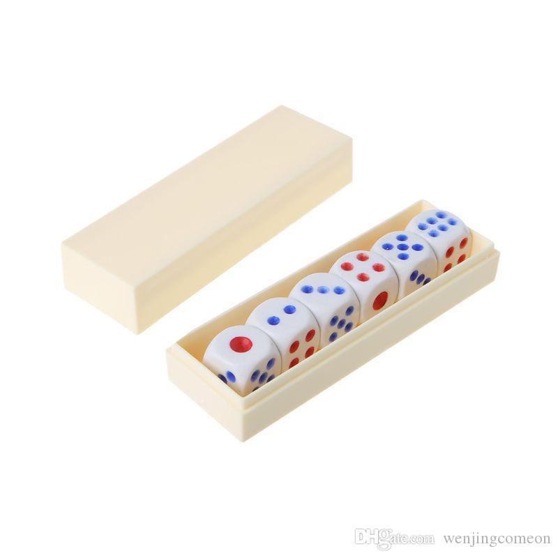 6PCS / Set Magic Prop 플라스틱 주사위 장난감 바 나이트 클럽 파티 보드 게임 Magic Trick Dice