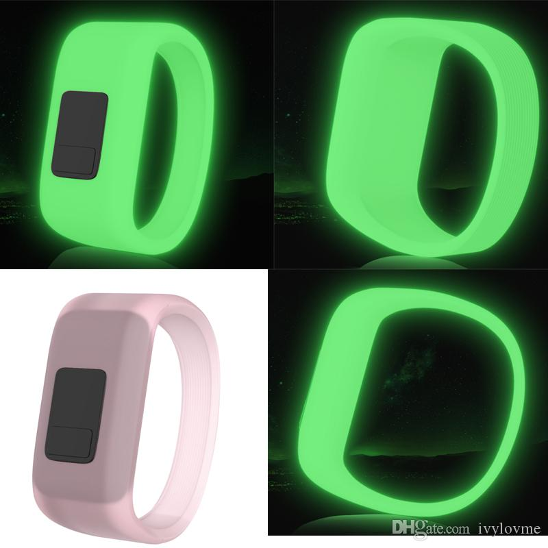 Fluorescence Sport Wrist Strap for Garmin Vivofit JR Band Replacement Soft Silicone Bands for Garmin vivofit 3 Wristband