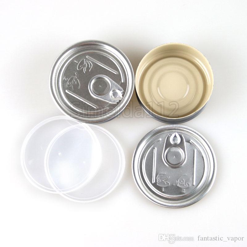 Lata de lata orgânica do selo da máquina do smartbud de 65 * de 27mm com a lata de lata clara da prova do cheiro da tampa para o atomizador seco da erva