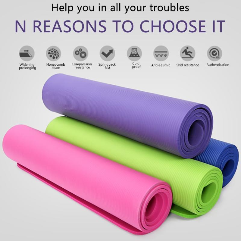 Estera de Yoga almohadilla de ejercicio clásico Pro estera de Yoga TPE respetuoso con el medio ambiente antideslizante Fitness ejercicio al aire libre alfombra de entrenamiento de interior
