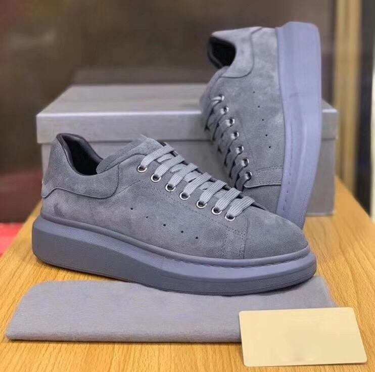 Grey Suede Designer Scarpe Sneakers 2020 Stagione superiore Chunkey Chaussures Shoe Designer della piattaforma Sneakers WholesaleL29