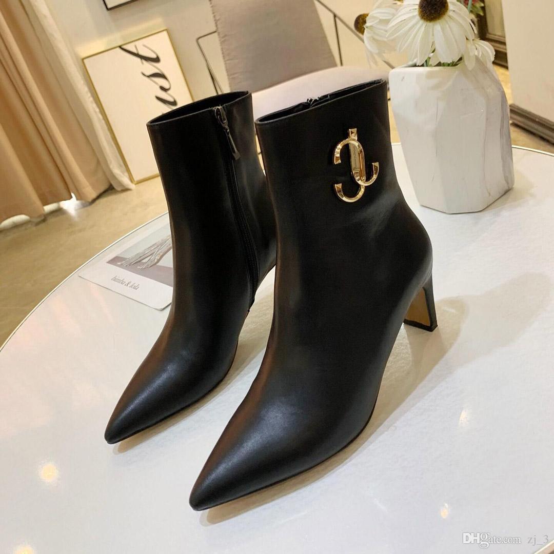 Explosion des modèles de mode Chaussures de luxe High Heels Cuir Noir Blanc Pointu bouche peu profonde Chaussures peu profonde Bas Robe Chaussures