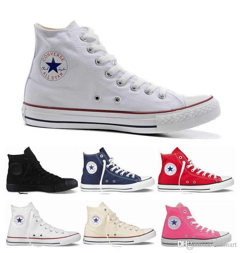 الرجال قماش منصة أحذية احذية عادية قماش ستار I كلاسيك للجنسين منخفض / السامي الأعلى العلامة التجارية أحذية رياضية الرجال النساء شقق