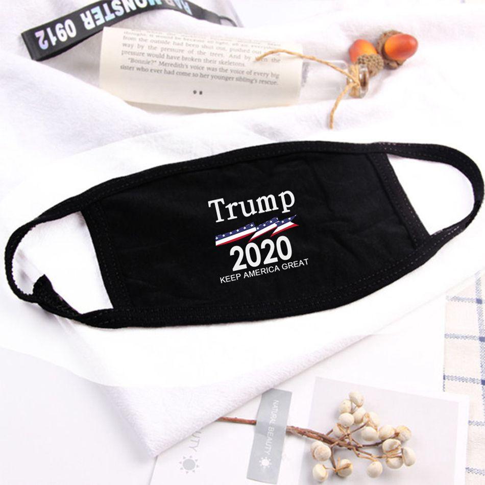 Trump Face Mask USA US-Präsident Wahl Cotton Mouth Trump 2020 Brief gedruckt Gesichtsschutzhülle Party-Designer Masken LJJA4077