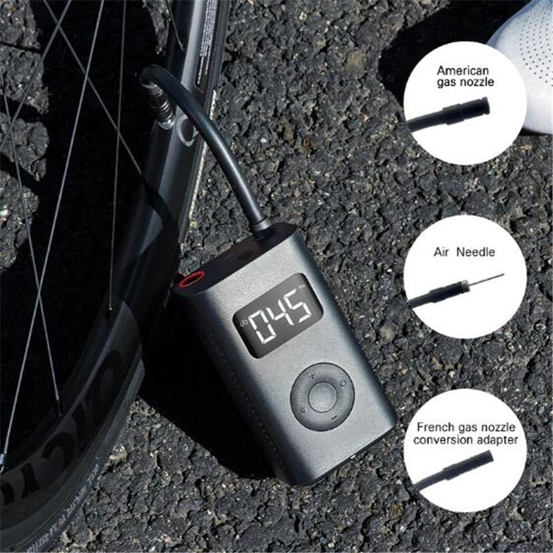 2021 Fast Ship Xiaomi Youpin Electric Inflator Pump Portable Smart Digital Tire Pressure Detection For Bike Motorcycle Car Football