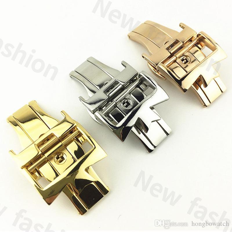 Mode Off-the-shelf Jiang sangle Shipi avec boucle papillon double boutonnage solide en acier inoxydable boucle de ceinture à boucle en acier de 18 mm 20 mm