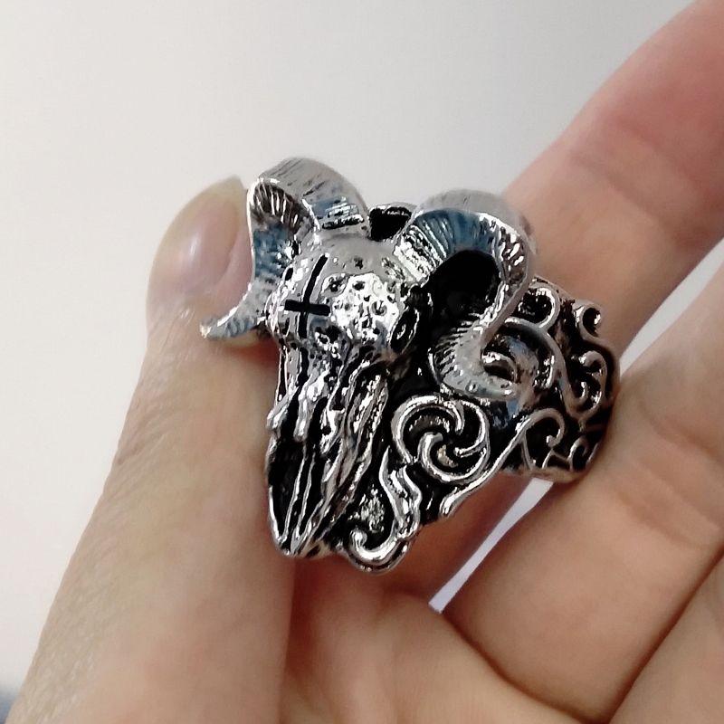 Women Men Stainless Steel Cool Gothic Punk Biker Finger Rings Jewelry Gift