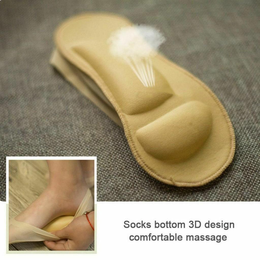 3D Arc de massage de soins de santé pour femmes d'été Chaussettes glace Chaussettes soie Shallow bouche gel de silice Anti-off invisible Sock Chaussons # 3