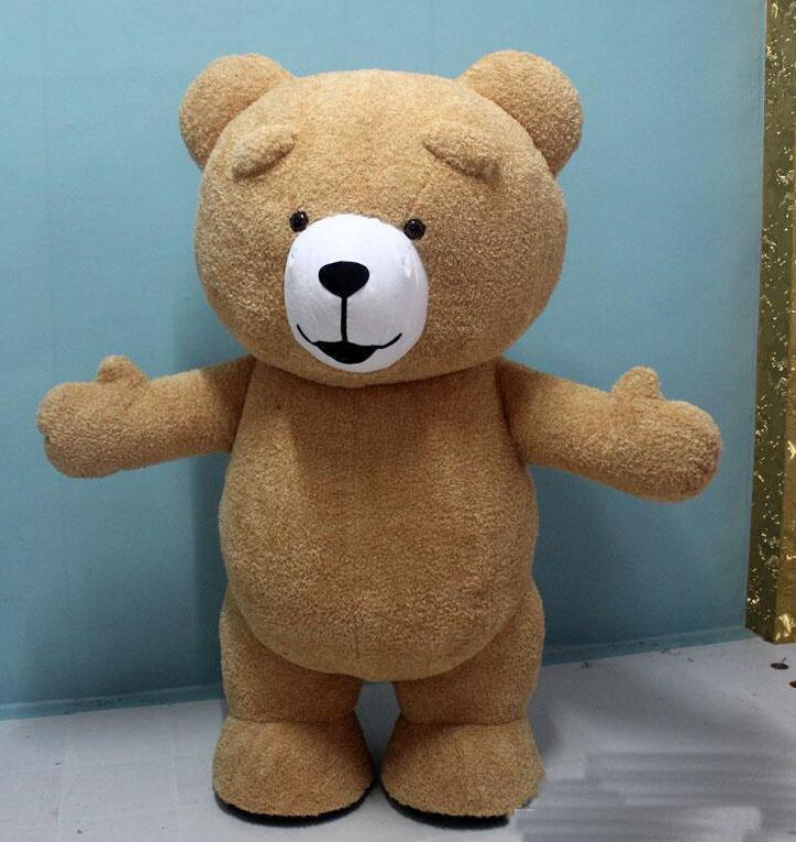 2019 Factory hot new Teddy Bear Inflatable Customize Adult Suitable For Bear Mascot Costume Animal Costume Brown Color fat costume for adult