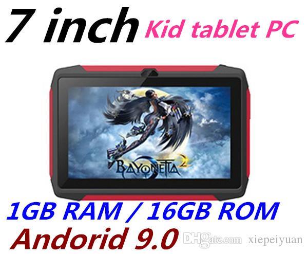 فيديكس أو يو بي إس مجانا طفل اللوحي Q98 رباعية النواة 7 بوصة 1024 * 600 HD شاشة الروبوت 9.0 AllWinner لA50 الحقيقي Q8 1GB RAM 16GB مع واي فاي بلوتوث