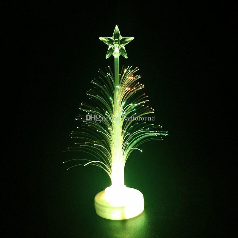 Glowing Christmas Tree Flash Bunte Fiber Tree Weihnachtsdekoration Kinderspielzeug Großhandel Dekoration Kleine LED Dekoration Geschenke