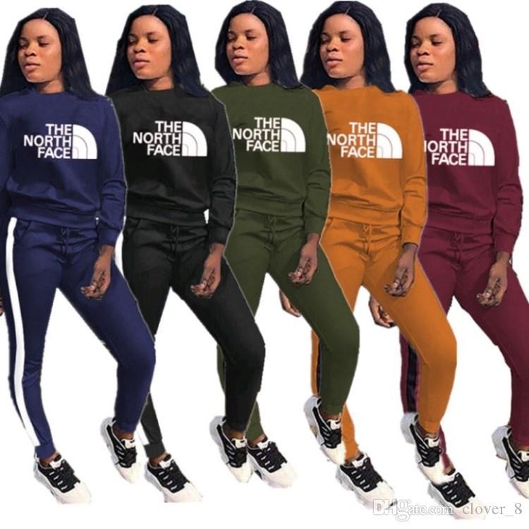 Le donne abiti hoodie leggings sportivo pullover pantaloni abiti casual lettera inverno sportsuit autunno womens abbigliamento klw3038 vestito