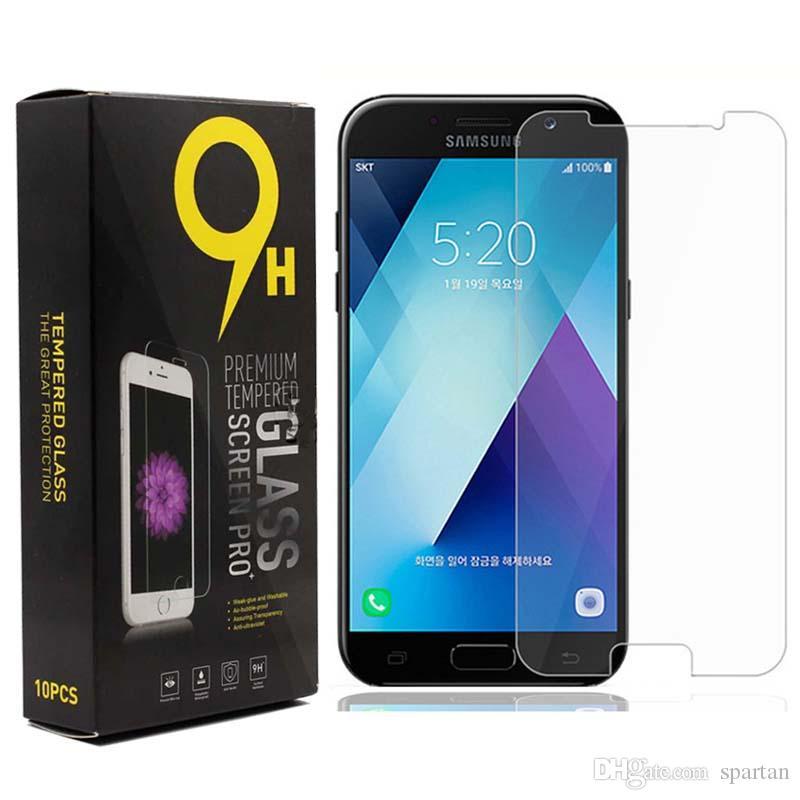 Google piksel 2 XL 3 LG V20 K40 Galaxy A9 2018 J4 Artı Samsung J2 Çekirdek A20E Temperli Cam 0.33 MM Telefon Ekran Koruyucuları