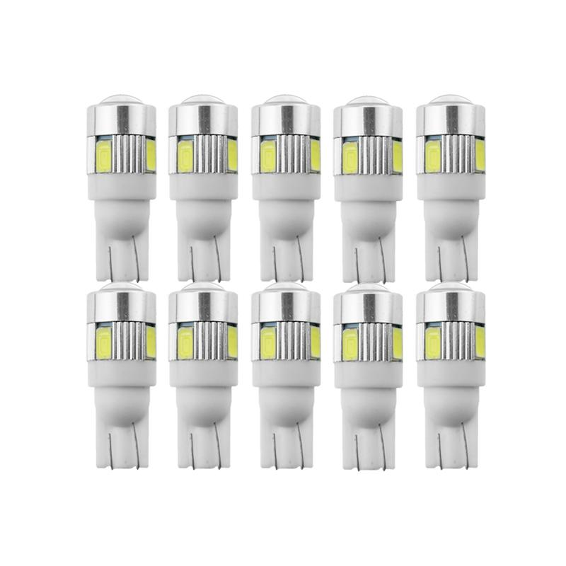 peinar bulbo 10x T10 W5W LED super brillante luz de señal del carnet de conducir 12V placa auto cúpula interior Lámparas de motos / blanco del coche 5W5