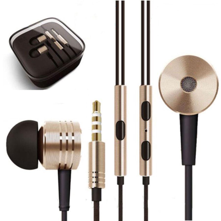 3.5mm colorido del metal del auricular del auricular universal de cancelación de ruido en la oreja Auriculares para Samsung El teléfono androide