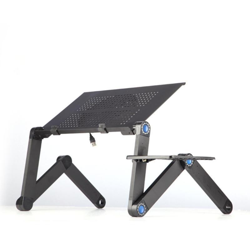 Liga de alumínio Laptop Desk portátil dobrável Laptop Tabela Notebook Table Desk Stand Bed Titular Sofá Bandeja Livro